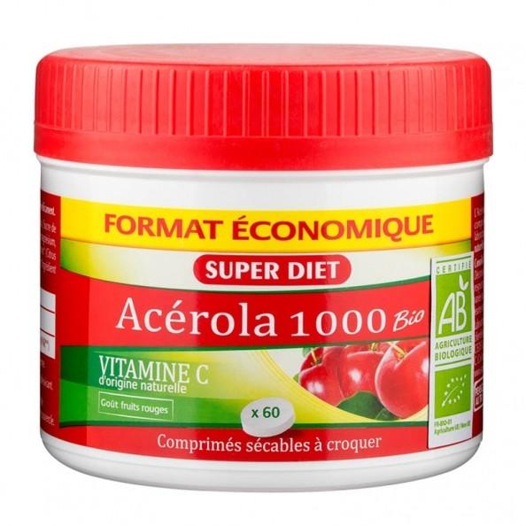 super diet acerola 1000 vitamine c 60 comprim s nu3. Black Bedroom Furniture Sets. Home Design Ideas
