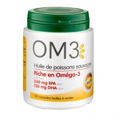 Omega 3 huiles de poissons sauvages, 120 capsules
