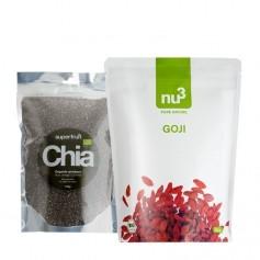 Superfoodpakke: Superfruit Chiafrø og nu3 Gojibær, Bær