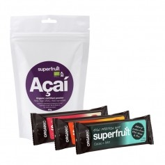 Superfruit Acai Økologisk, Pulver + 3 Superfruit Raw Protein Bars