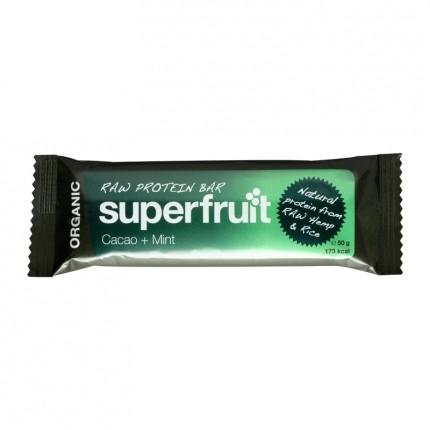5 x Superfruit Raw Protein Bar – Kakao + mynte bar