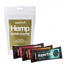 Superfruit Hampaprotein Pulver + 3 st raw protein bars