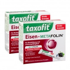 2 x Taxofit Eisen + Metafolin, Direktgranulat