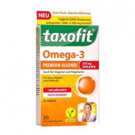 Taxofit Omega-3 Premium-Algenöl (30 Kapseln)