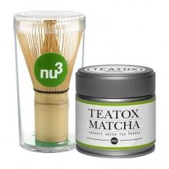 Teatox Energy Matcha Tea mit nu3 Matcha Besen