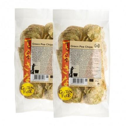 TerraSana Bio Grüne Erbsen Chips (2 x 45 g)