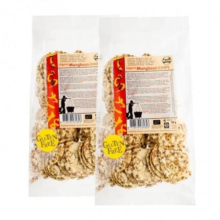 2 x TerraSana Økologiske Mungbønne Chips
