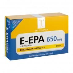 Tri tolosen terveystuotteet E-EPA 650 MG 60 KAPS (uusi koostumus )