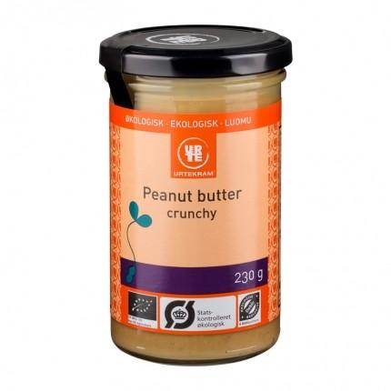 2 x Urtekram Crunchy Peanut Butter -maapähkinävoi, luomu
