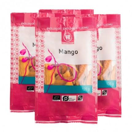4 x Urtekram Kuivattu mango, luomu