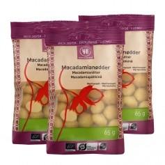 3 x Urtekram Macadamiapähkinät, luomu