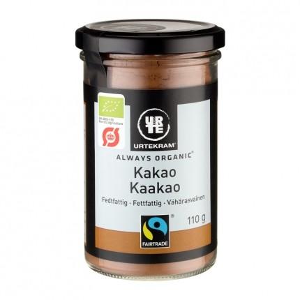 2 x Urtekram Økologisk Fedtfattig Kakao