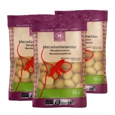 3 x Urtekram Økologisk Macadamianødder