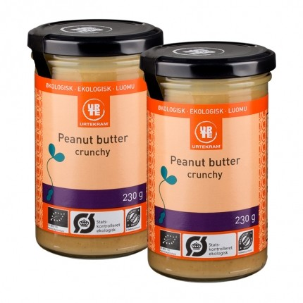 2 x Urtekram Økologisk Peanut Butter Crunchy