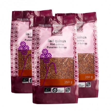 3 x Urtekram Økologisk Rød Quinoa
