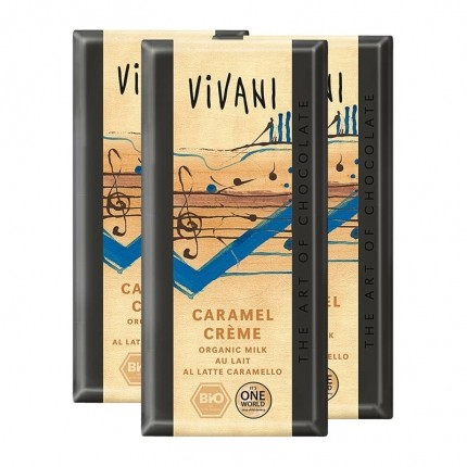 3 x Vivani Tafelschokolade Caramel Creme