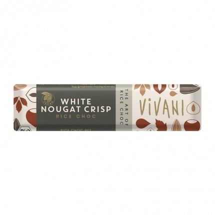 6 x Vivani Bio Schokoriegel White Nougat Crisp