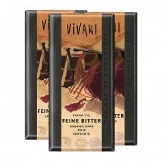 3 x Vivani Tafelschokolade Feine Bitter