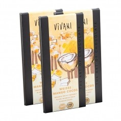 3 x Vivani Tafelschokolade Weiße Mango Cocos