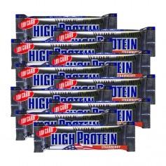 10 x Weider 40% barres hyperprotéinées et faibles en glucides à la fraise