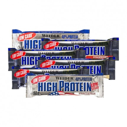 Weider High Protein Low Carb Riegel Test-Paket