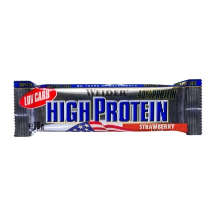 Weider 40% High Protein Low Carb Bar, jordgubb