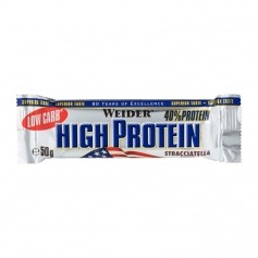 Weider 40% High Protein Low Carb Bar, stracciatella