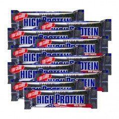 10 x Weider 40 % High Protein Low Carb -Rød frugtbar