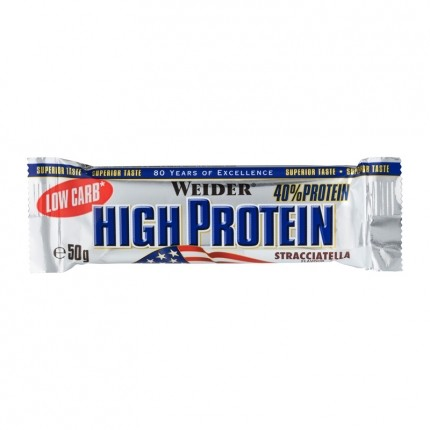 5 x Weider 40% High Protein Low Carb Stracciatella  Bar