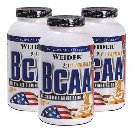 3 x Weider BCAA, comprimés