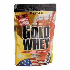 Weider Gold Whey Strawberry Powder