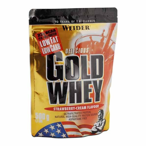 Weider Gold Whey Strawberry Powder A Dietary Supplement