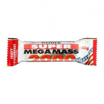 6 x Weider Mega Mass 2000 Jordbær , bar