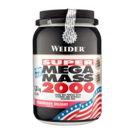 Weider Mega Mass 2000 Jordgubb, pulver