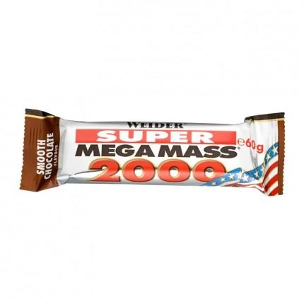 6 x Weider Mega Mass 2000 Sjoko, bar