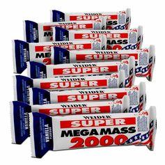 10 x Weider Mega Mass 2000 Vanille, Riegel