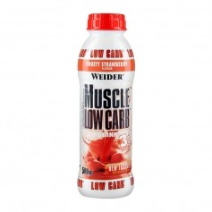 Weider Muscle Low Carb Drink Erdbeere, Flasche
