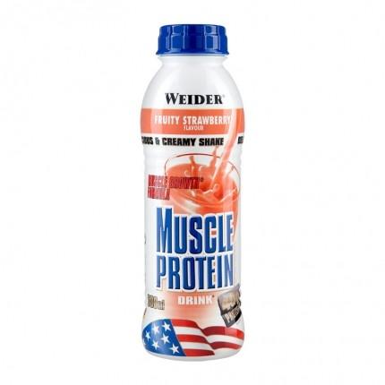 3 x Weider Muscle Protein Drink Erdbeere, Flasche