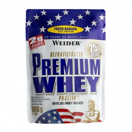 Weider, Premium lactosérum banane fraîche, poudre