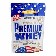 Weider, Premium lactosérum vanille-caramel, poudre