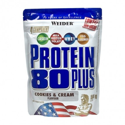 Weider Protein 80 Plus, Cookies-Cream, Pulver (500 g)
