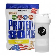 Weider Protein 80 Plus Banane + nu3 SmartShake
