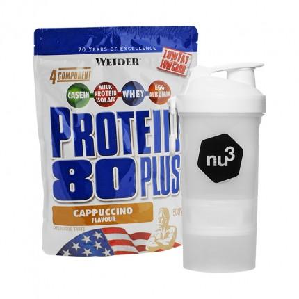 Weider Protein 80 Plus Cappuccino + nu3 SmartShake