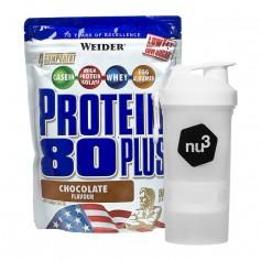 Weider Protein 80 Plus Schoko + nu3 SmartShake