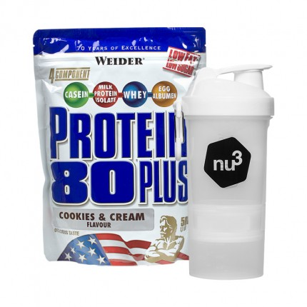 Weider Protein 80 Plus Cookies & Cream + nu3 SmartShake
