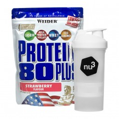 Weider Protein 80 Plus Erdbeere + nu3 SmartShake