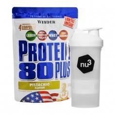 Weider Protein 80 Plus Pistazie + nu3 SmartShake