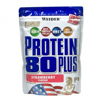 Weider, Protéine 80 Plus fraise, poudre