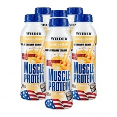 Weider, Protéines muscles vanille, boisson, lot de 6