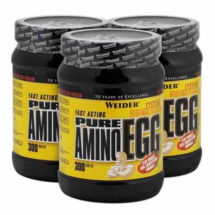 Weider, Pure Amino Egg, lot de 3, comprimés